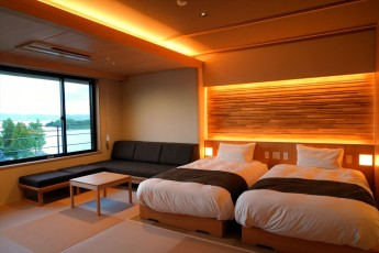 滋賀県・おごと温泉 「暖灯館 きくのや」 夕朝食をお部屋で愉しむことができる温泉露天風呂付客室5室が誕生