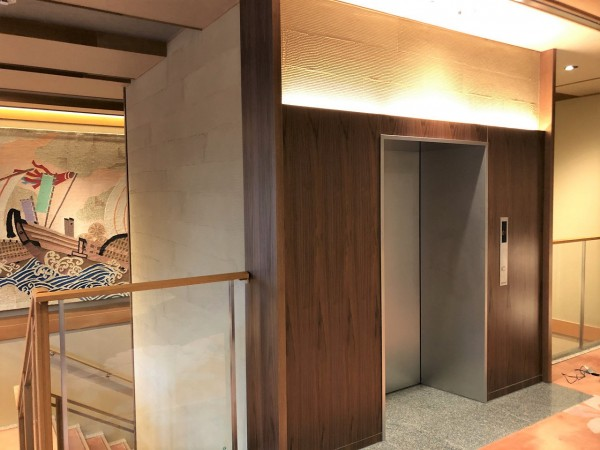 ホテル金波楼/新設エレベーター